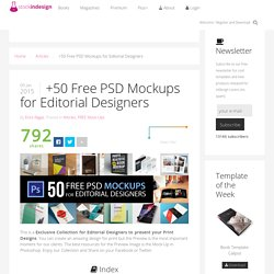 StockInDesign +50 Free PSD Mockups for Editorial Designers