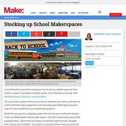 Stocking Up School Makerspaces: Tools + Materials (Back to School)