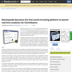 Stockopedia Becomes The First Social Investing Platform To Launch Real-time Analytics For Contributors