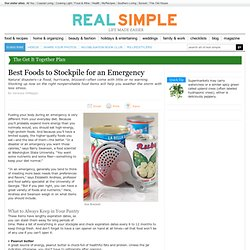 Best Foods to Stockpile for an Emergency
