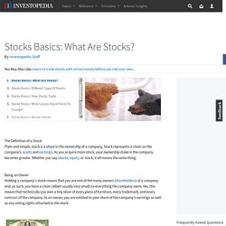 Stocks Basics: What Are Stocks?