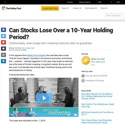 can-stocks-lose-over-a-10-year-holding-period