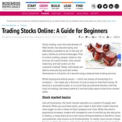 How to Trade Stocks Online