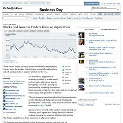 Stocks Fall as Traders Focus on Japan Crisis