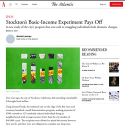 Stockton's Basic-Income Experiment Pays Off