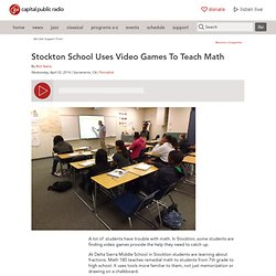 Stockton School Uses Video Games To Teach Math