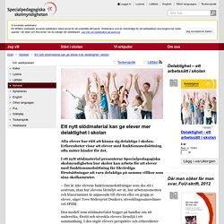 Ett nytt stödmaterial kan ge elever mer delaktighet i skolan - SPSM