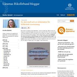 En skrivmall och en stödstruktur för källkritiskt resonemang