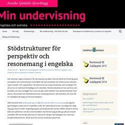 Stödstrukturer för perspektiv och resonemang i engelska