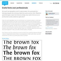 Stoere Binken Design - Gratis fonts voor professionals
