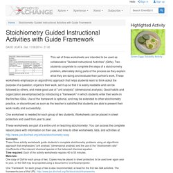 Stoichiometry Guided Instructional Activities with Guide Framework