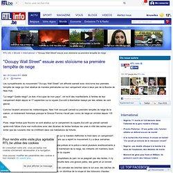 """""""Occupy Wall Street"""" essuie avec stoïcisme sa première tempête de neige"""