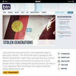 Stolen Generations: 19/02/2008, Behind the News