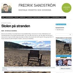 Stolen på stranden