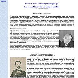 Dossier d'Odonto-Stomatologie Homéopathique.