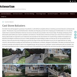 Cast Stone Balusters