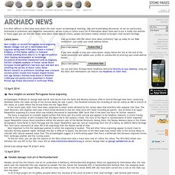 Stone Pages • Archaeo News