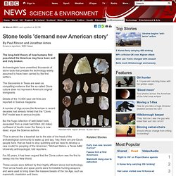 Stone tools 'demand new American story'
