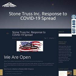 Stone Truss Inc. Response to COVID-19 Spread