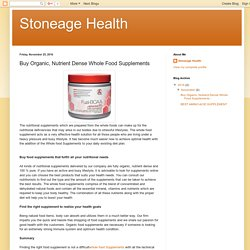 Stoneage Health: Buy Organic, Nutrient Dense Whole Food Supplements