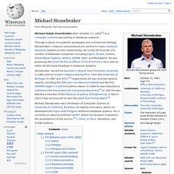 Michael Stonebraker