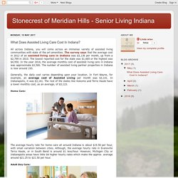 Stonecrest of Meridian Hills - Senior Living Indiana: What Does Assisted Living Care Cost In Indiana?