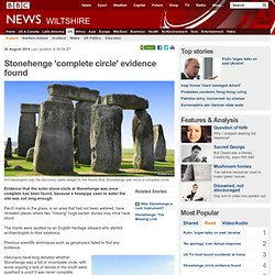 Stonehenge 'complete circle' evidence found
