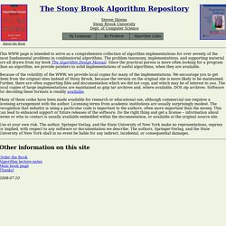 The Stony Brook Algorithm Repository