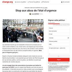 Stop aux abus de l'état d'urgence