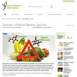Stop aux « 5 fruits et légumes » par jour