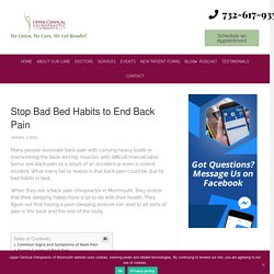Stop Bad Bed Habits to End Back Pain