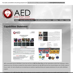 AED One-Stop Shop Capabilities Statement