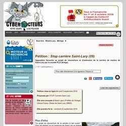 Stop carrière Saint-Lary (09) pétition