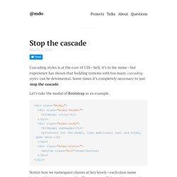 Stop the cascade