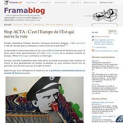 Stop ACTA : C'est l'Europe de l'Est qui ouvre la voie