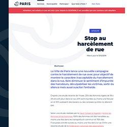 Stop au harcèlement de rue - Ville de Paris