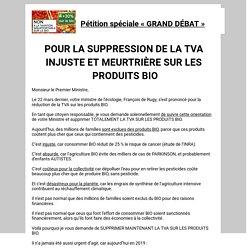 STOP A LA TAXE INSUPPORTABLE SUR LES PRODUITS « BIO » !