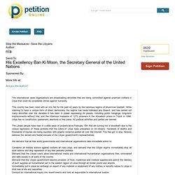 Stop the Massacre - Save the Libyans Petition