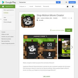 Stop-Motion Movie Creator – Applications Android sur GooglePlay
