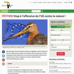 Stop à l'offensive de l'UE contre la nature