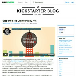 Stop the Stop Online Piracy Act - Kickstarter