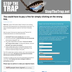 Stop The Trap | OpenMedia International