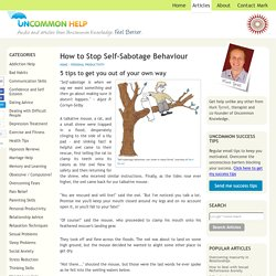 How to Stop Self-Sabotage Behaviour
