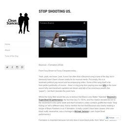 Stop Shooting Us. – Clean Stances