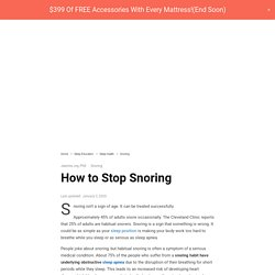 How to Stop Snoring (13 Useful Tips That Work)