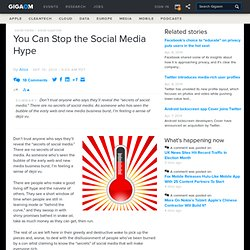 You Can Stop the Social Media Hype: Business Collaboration News «
