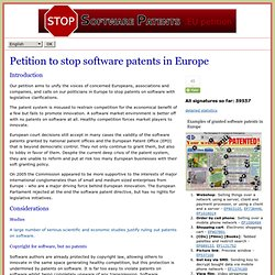 Stop Software Patents Petition