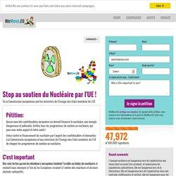 Stop au soutien du Nucléaire par l'UE !