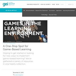 A One-Stop Spot for Game-Based Learning