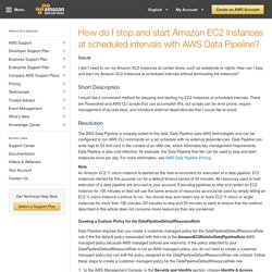 Stop and Start Amazon EC2 Instances